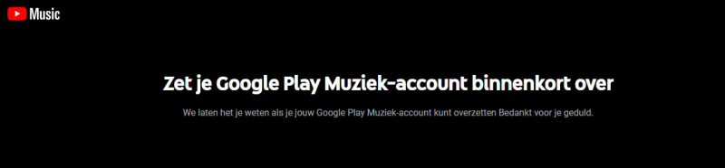 Zet je play music account over